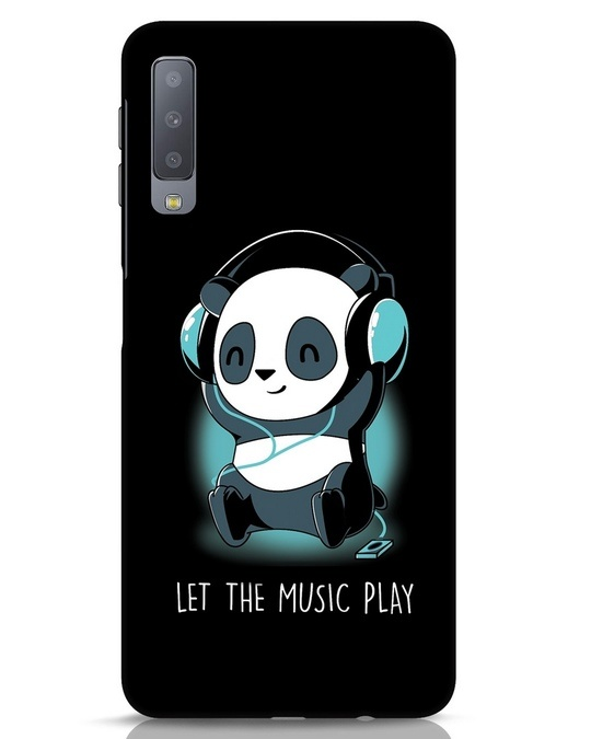 Shop Panda Headphones Samsung Galaxy A7 Mobile Cover-Front