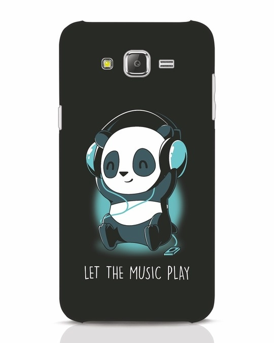 Shop Panda Headphones Samsung Galaxy J7 Mobile Cover-Front