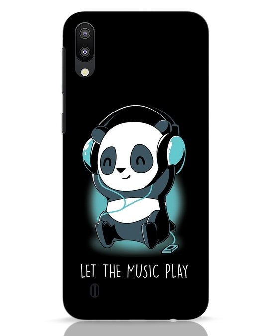 Shop Panda Headphones Samsung Galaxy M10 Mobile Cover-Front