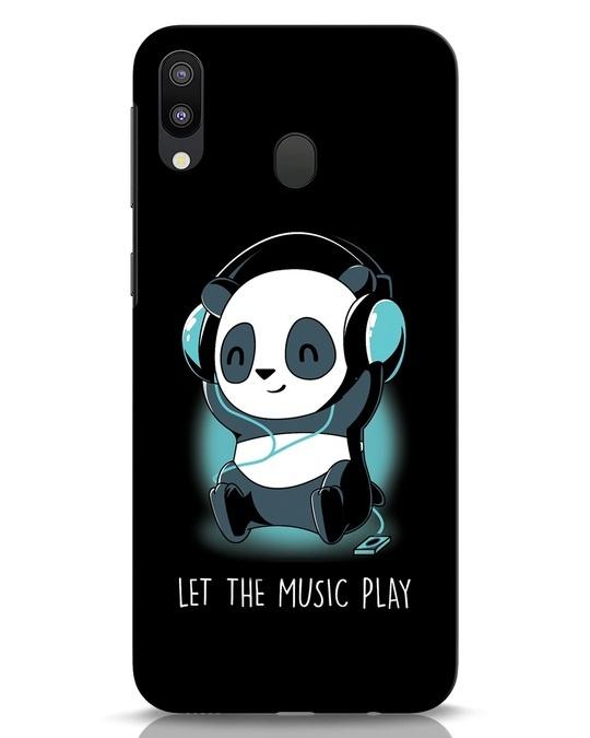 Shop Panda Headphones Samsung Galaxy M20 Mobile Cover-Front