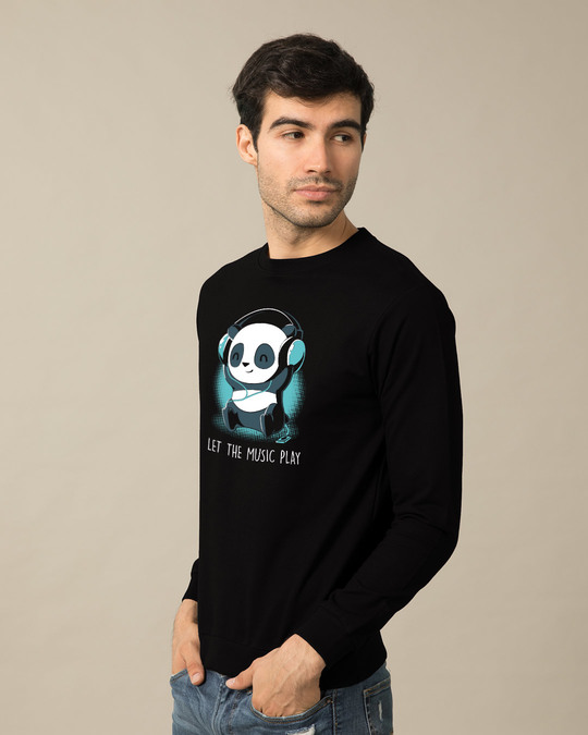 Shop Panda Headphones Sweatshirt-Back