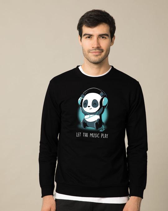 Shop Panda Headphones Sweatshirt-Front