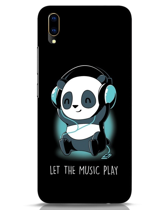 Shop Panda Headphones Vivo V11 Pro Mobile Cover-Front