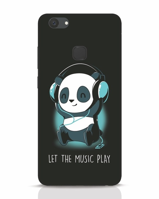 Shop Panda Headphones Vivo V7 Plus Mobile Cover-Front