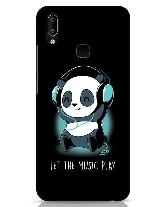 Shop Panda Headphones Vivo Y91 Mobile Cover-Front