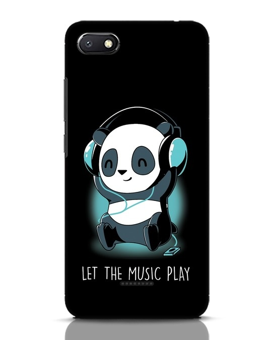 Shop Panda Headphones Xiaomi Redmi 6A Mobile Cover-Front
