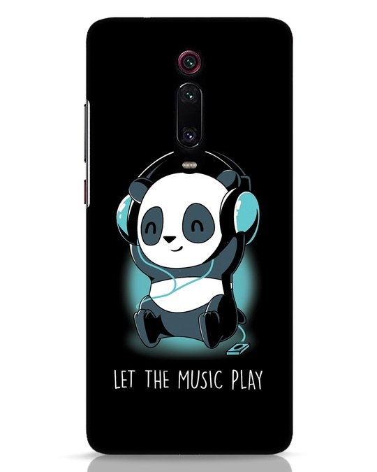 Shop Panda Headphones Xiaomi Redmi K20 Pro Mobile Cover-Front