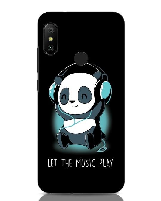 Shop Panda Headphones Xiaomi Redmi Note 6 Pro Mobile Cover-Front