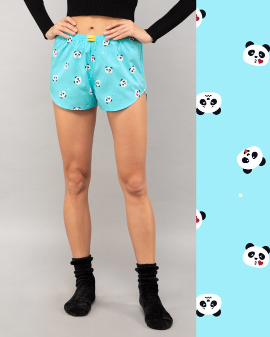 Shop Panda Moods All Over Printed Boxer-Front