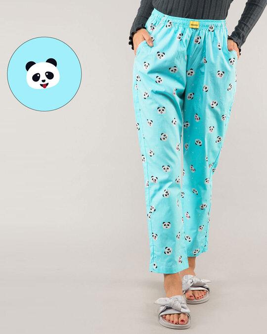 Shop Panda Moods All Over Printed Pyjama-Front