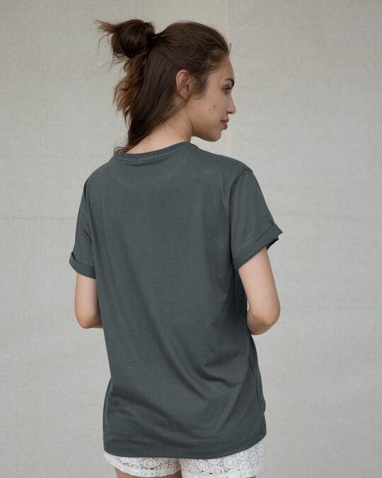 Shop Panda Moon Boyfriend T-Shirt-Back