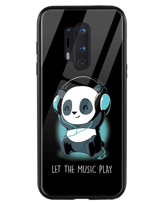 Shop Panda Music Play OnePlus 8 Pro Mobile Cover-Front