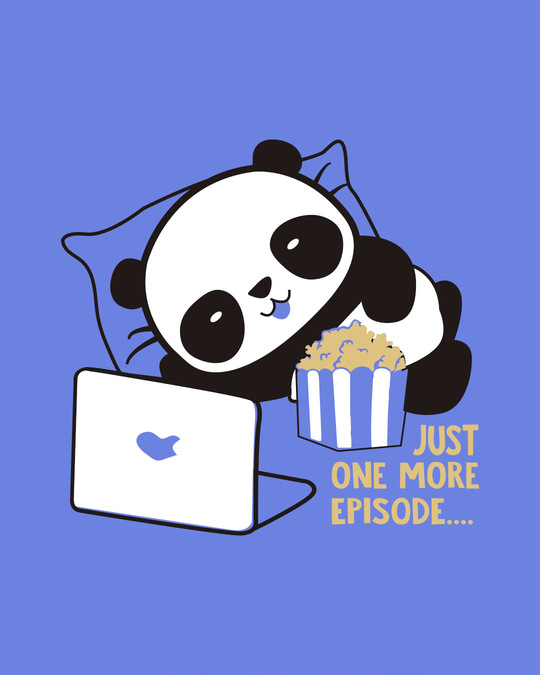 Shop Panda One More Episode Boyfriend T-Shirt