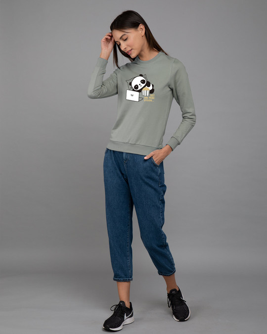 Shop Panda One More Episode Fleece Light Sweatshirt-Design
