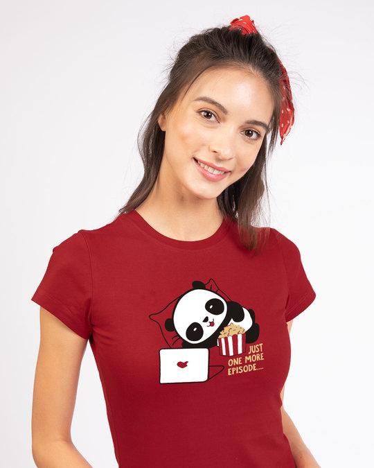 Shop Panda One More Episode Half Sleeve T-Shirt-Front