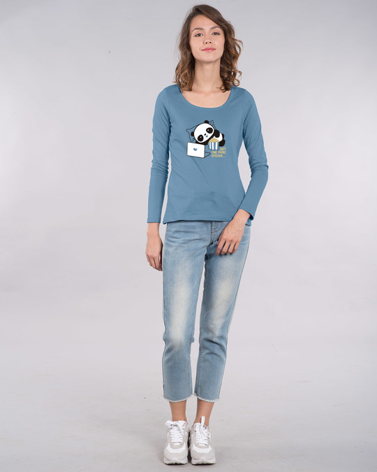 Shop Panda One More Episode Scoop Neck Full Sleeve T-Shirt-Design
