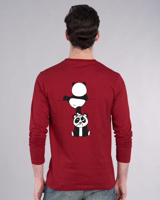 Shop Panda Peek Full Sleeve T-Shirt-Design