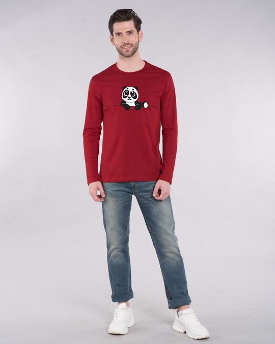 Shop Panda Peek Full Sleeve T-Shirt-Full
