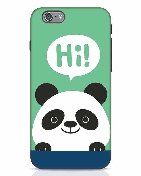 Shop Panda Says Hi iPhone 6 Mobile Cover-Front