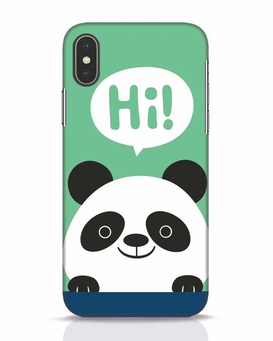 Shop Panda Says Hi iPhone X Mobile Cover-Front