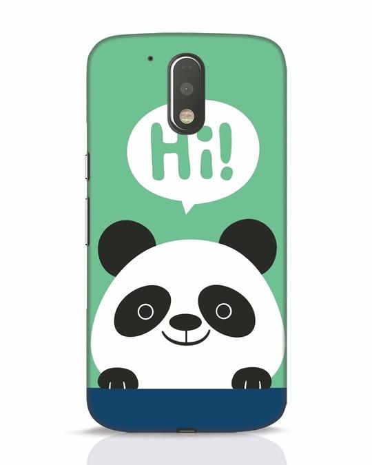 Shop Panda Says Hi Moto G4 Plus Mobile Cover-Front