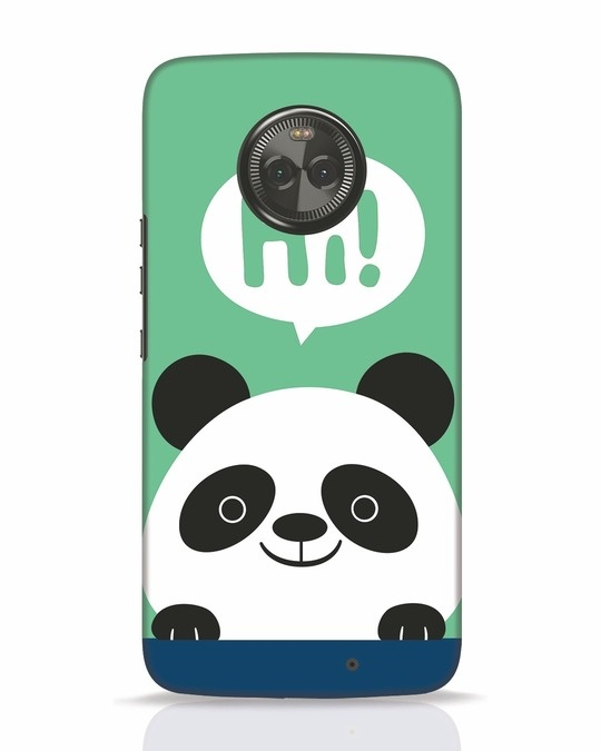 Shop Panda Says Hi Moto X4 Mobile Cover-Front
