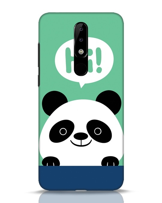 Shop Panda Says Hi Nokia 5.1 Plus Mobile Cover-Front