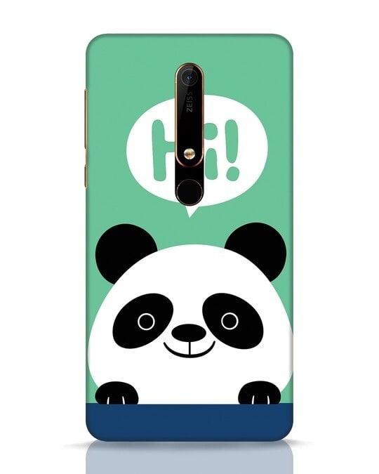 Shop Panda Says Hi Nokia 6.1 Mobile Cover-Front