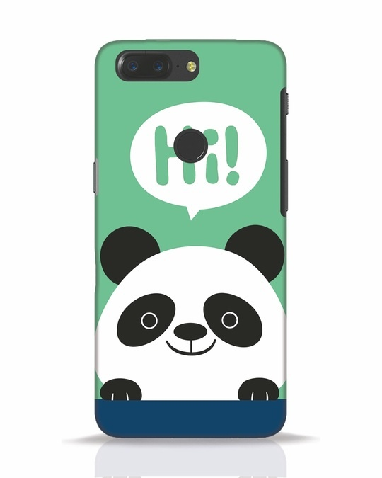 Shop Panda Says Hi OnePlus 5T Mobile Cover-Front