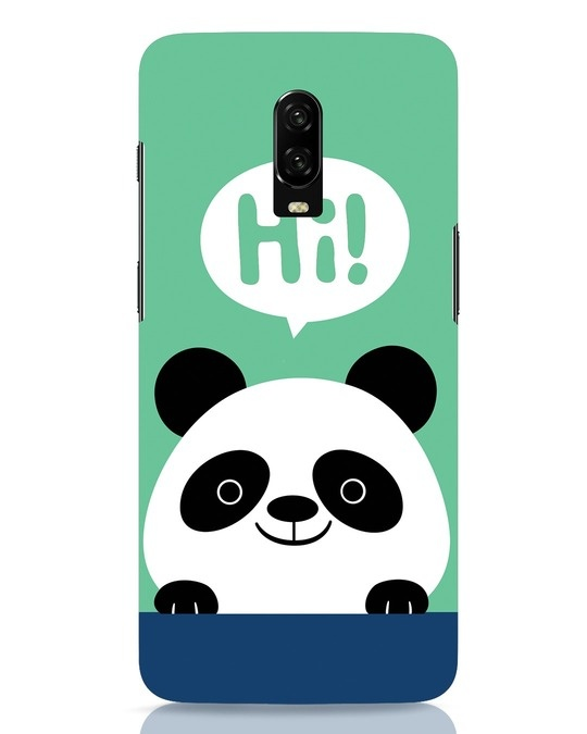 Shop Panda Says Hi OnePlus 6T Mobile Cover-Front