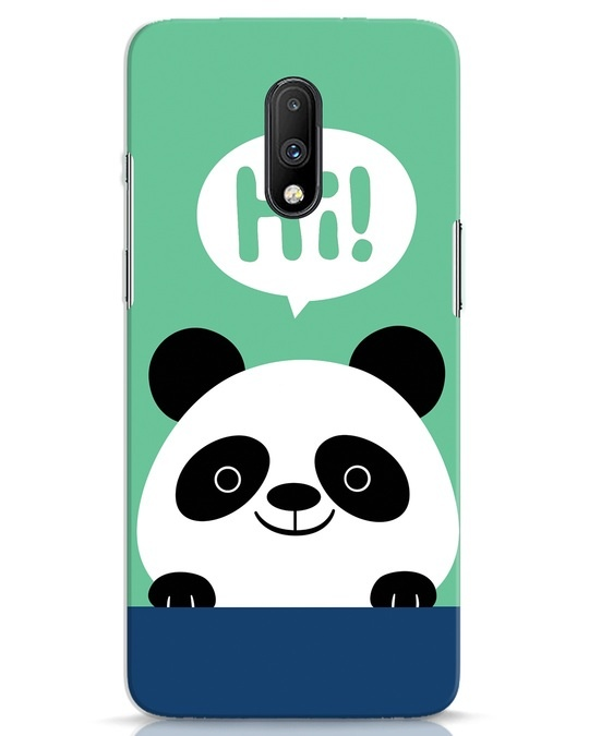 Shop Panda Says Hi OnePlus 7 Mobile Cover-Front
