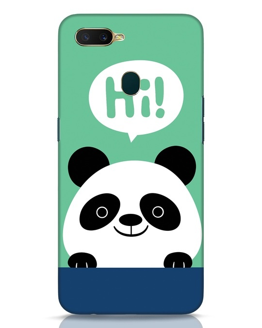 Shop Panda Says Hi Oppo A7 Mobile Cover-Front