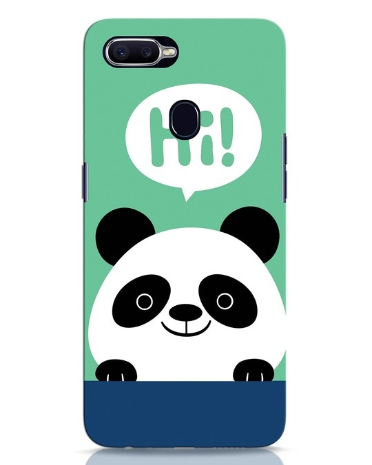 Shop Panda Says Hi Oppo F9 Pro Mobile Cover-Front