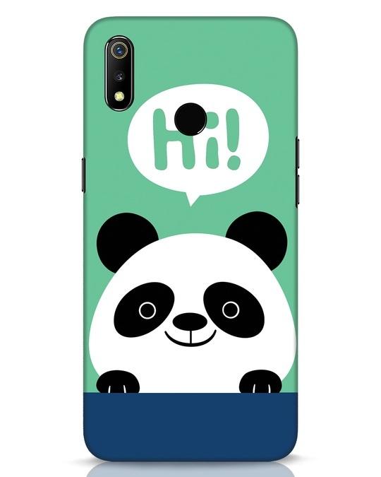 Shop Panda Says Hi Realme 3 Mobile Cover-Front