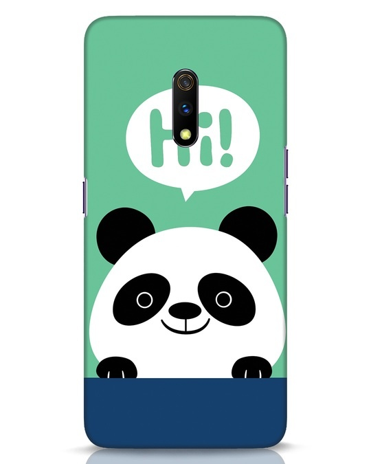 Shop Panda Says Hi Realme X Mobile Cover-Front