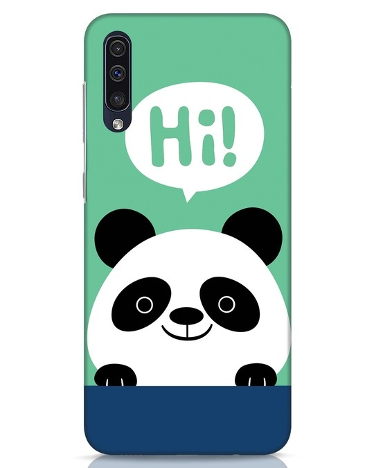 Shop Panda Says Hi Samsung Galaxy A50 Mobile Cover-Front