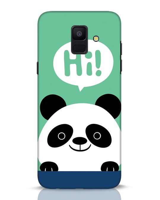 Shop Panda Says Hi Samsung Galaxy A6 2018 Mobile Cover-Front