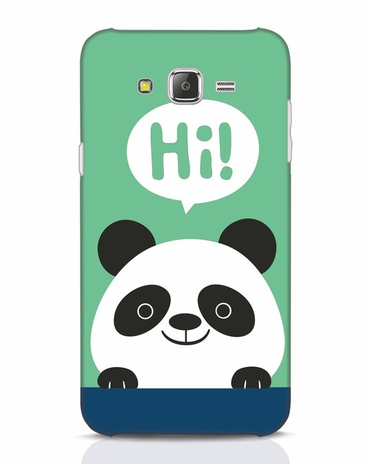 Shop Panda Says Hi Samsung Galaxy J7 Mobile Cover-Front