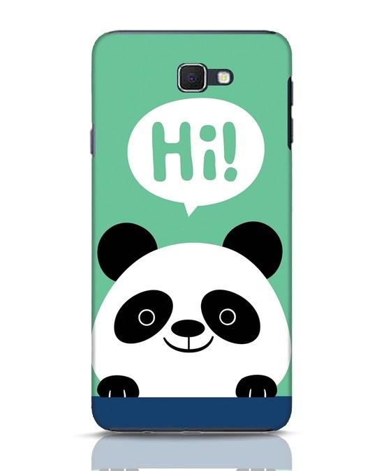 Shop Panda Says Hi Samsung Galaxy J7 Prime Mobile Cover-Front