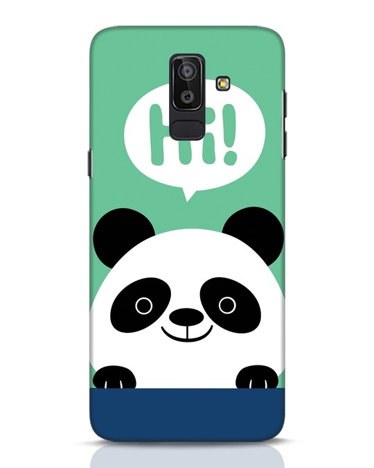 Shop Panda Says Hi Samsung Galaxy J8 Mobile Cover-Front