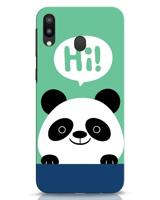 Shop Panda Says Hi Samsung Galaxy M20 Mobile Cover-Front
