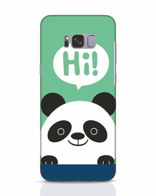 Shop Panda Says Hi Samsung Galaxy S8 Mobile Cover-Front