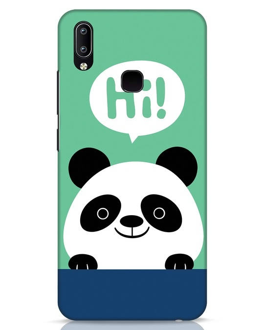 Shop Panda Says Hi Vivo Y91 Mobile Cover-Front