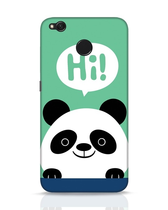 Shop Panda Says Hi Xiaomi Redmi 4 Mobile Cover-Front