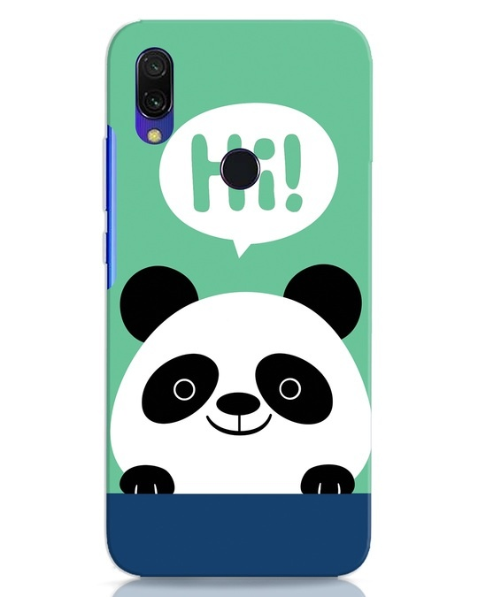 Shop Panda Says Hi Xiaomi Redmi 7 Mobile Cover-Front