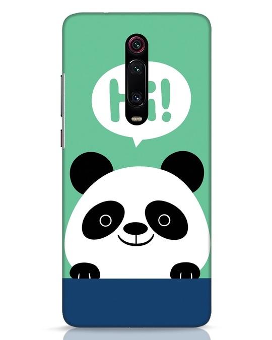 Shop Panda Says Hi Xiaomi Redmi K20 Mobile Cover-Front