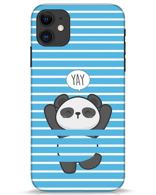Shop Panda Yay iPhone 11 Mobile Cover-Front