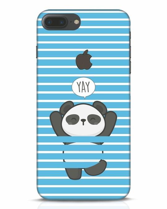 Shop Panda Yay iPhone 7 Plus Logo Cut Mobile Cover-Front