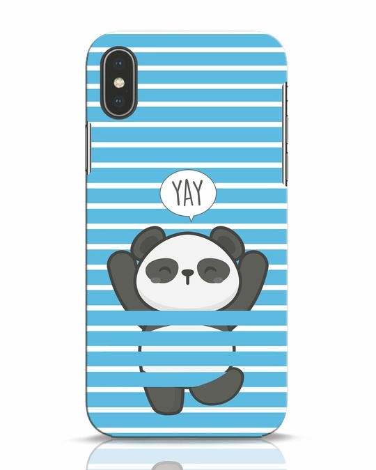 Shop Panda Yay iPhone X Mobile Cover-Front