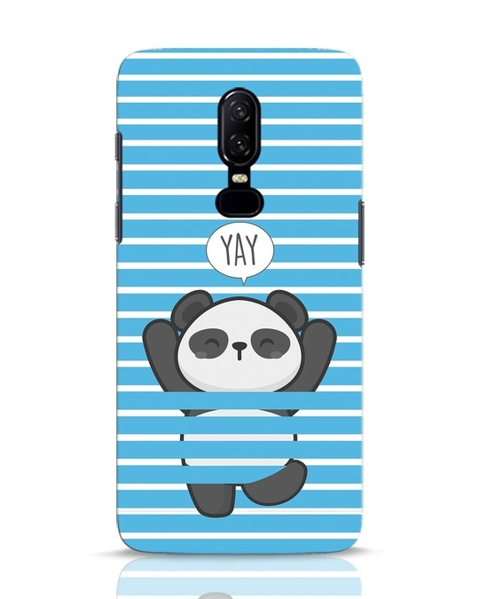 Shop Panda Yay OnePlus 6 Mobile Cover-Front